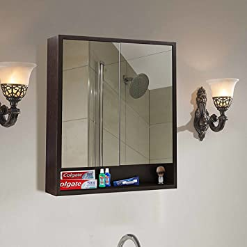 Klaxon Decor Wooden Bathroom Mirror Cabinet