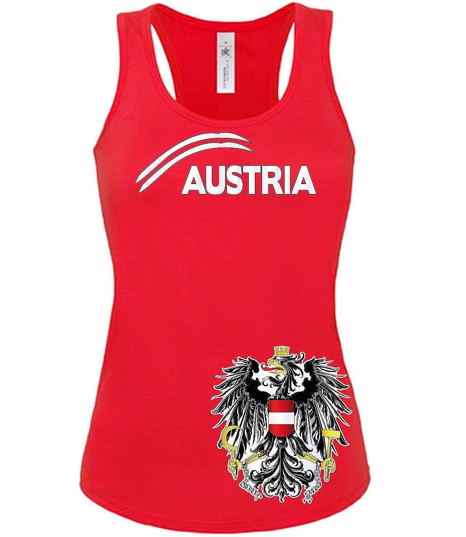 /Österreich Fanshirt Fussball Fan Shirt Tshirt Fanartikel Artikel Frauen Damen Tank Top Tanktop T-Shirts