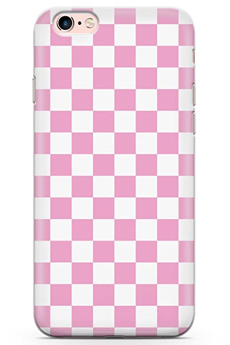 new concept a269b 134d5 Case Warehouse iPhone 6 Case, iPhone 6s Pink Checkered Phone Case Clear  Ultra Thin Lightweight Gel Silicon TPU Protective Cover | Plaid  Checkerboard ...