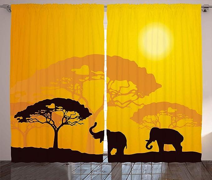Abakuhaus Safari Cortinas, Vida Salvaje Africana E...