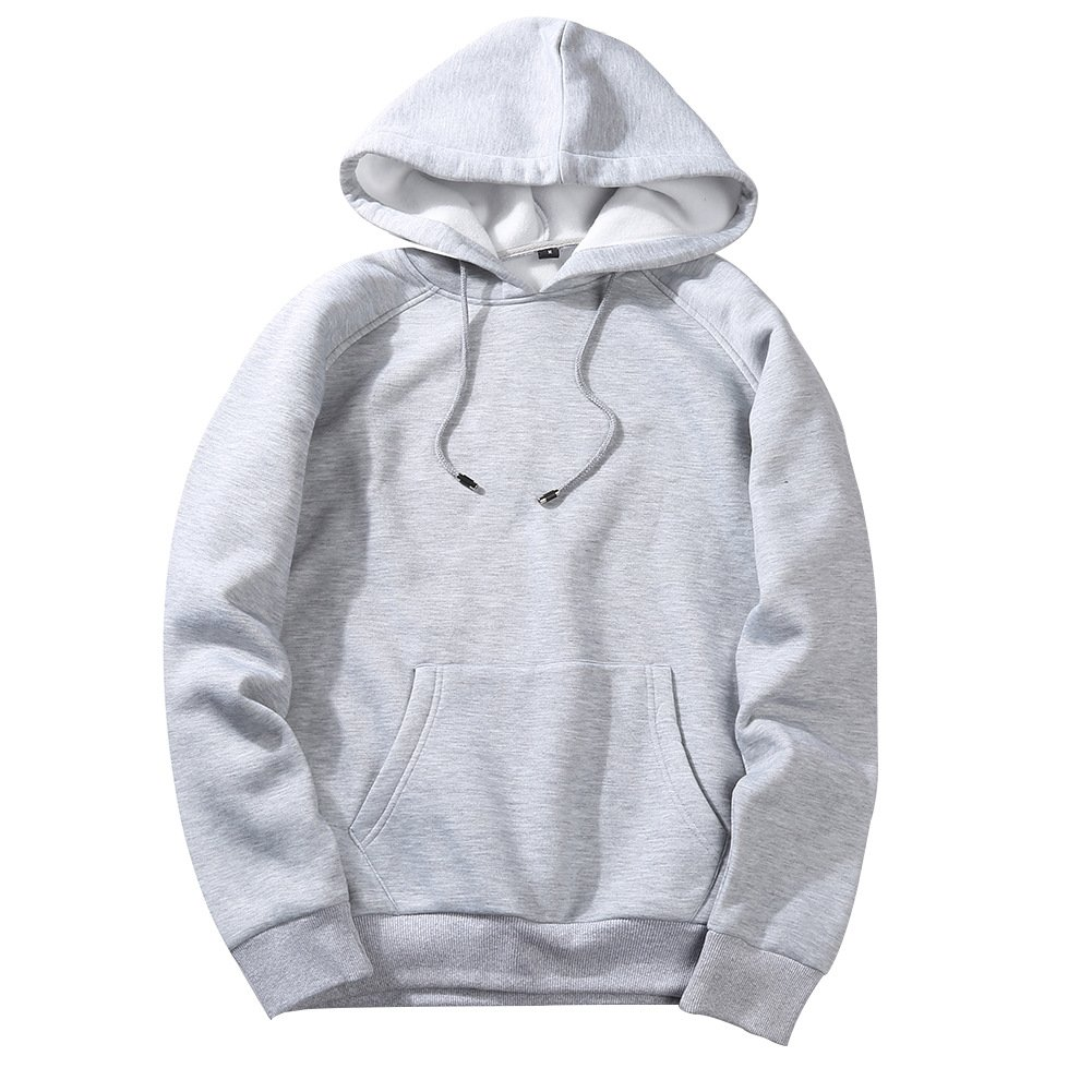 Cosuit Unisex Cotton Sweatshirt Long Sleeves Pullover Fleece Solid Hoodie