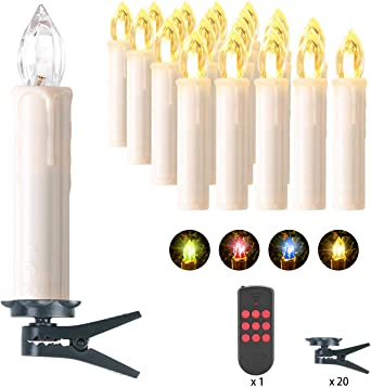 Clase de eficiencia energ/ética A+++ MVPOWER 30pcs LED Velas El/éctricas de la Navidad de Luz de Color Inal/ámbricas Decoraciones de Navidad Set de Velas