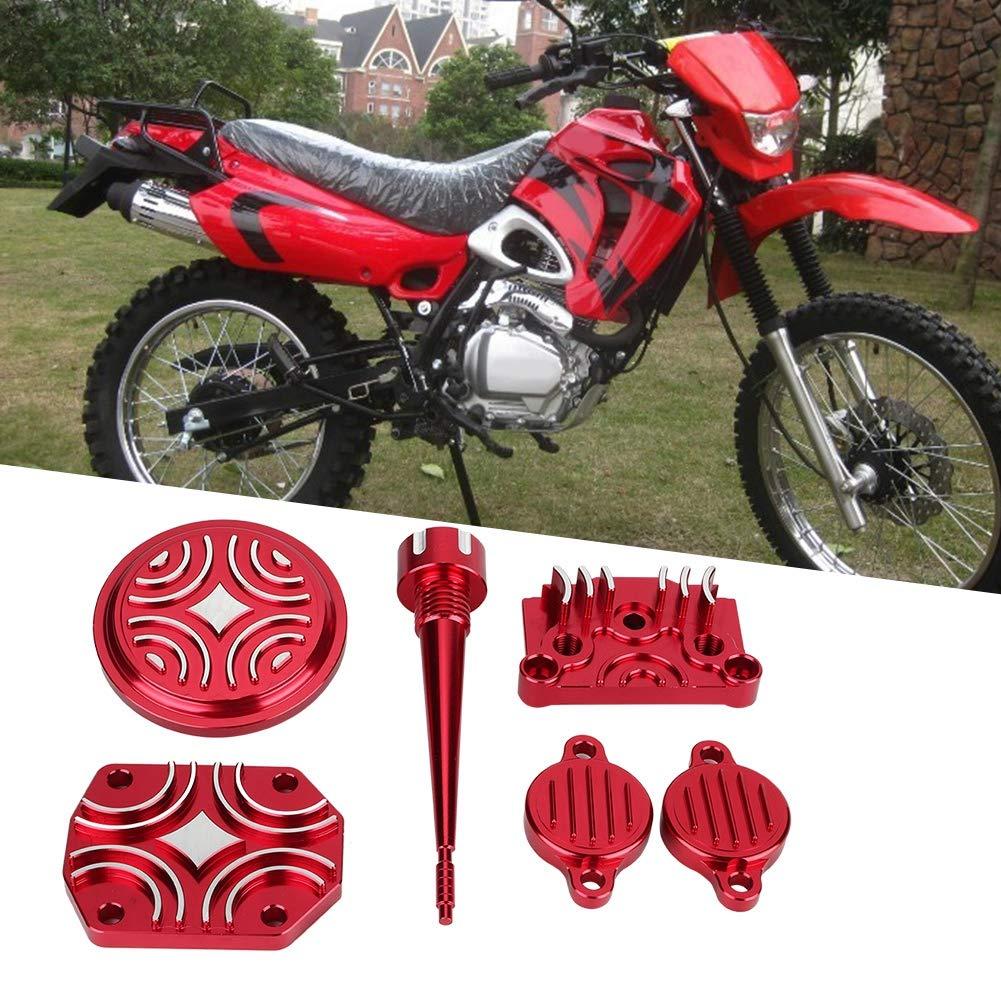 aluminium rot motor dress up cover kit teile fit f/ür lifan 110cc 125cc pit dirt bike Qiilu Motorrad motor dekoration kit
