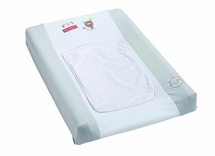 Pmp Colchón cambiador + 2 fundas, Mae Et Ses Amis, colores blanco