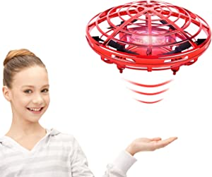 Boys Toys Flying Toys for Kids,Scoot Hands Free Mini Flying Ball Drones with Light and 360°Rotating,Easy Operated Indoor UFO Toys for 3 12 Year Old Boys or Girl