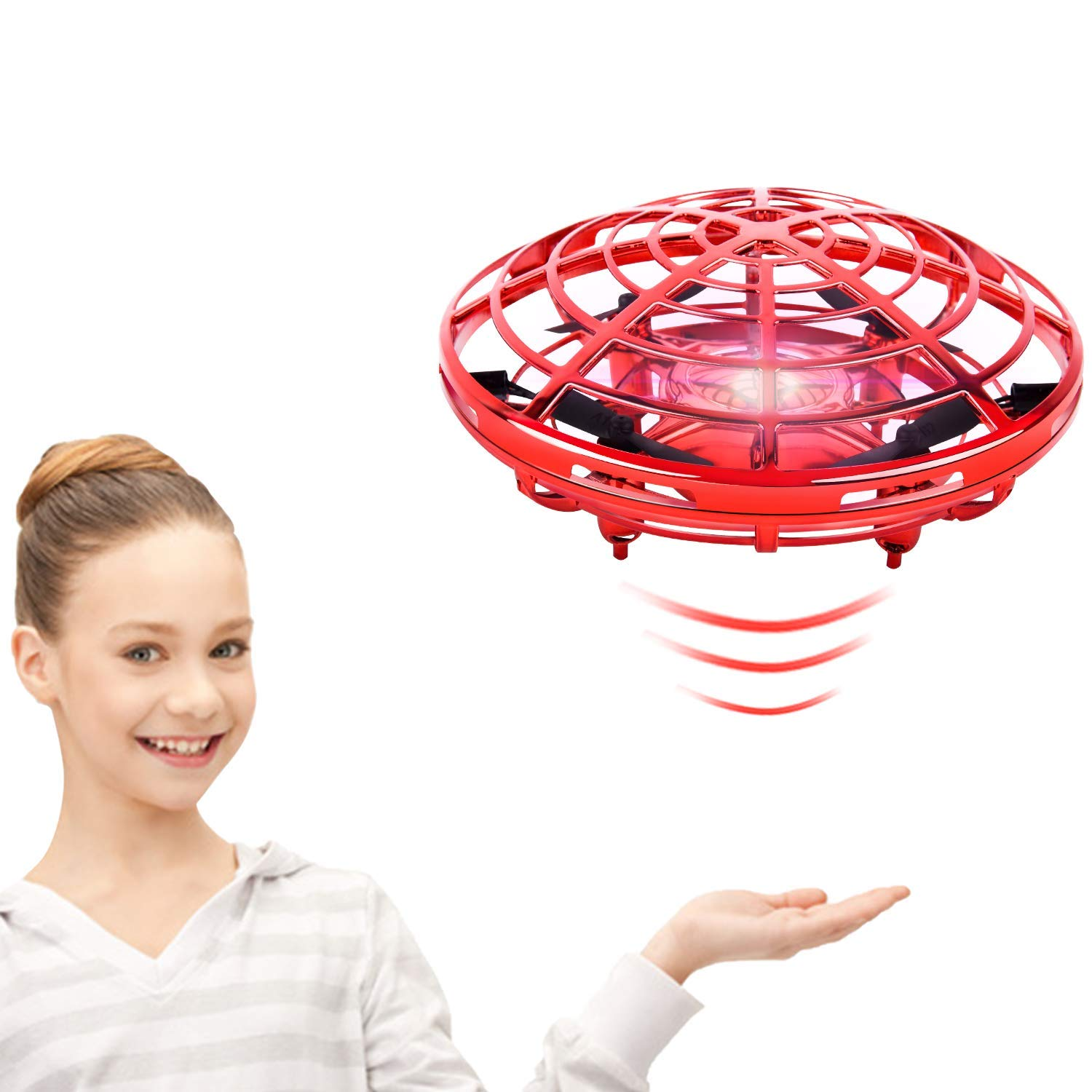 Boys Toys Flying Toys for Kids,Scoot Hands Free Mini Flying Ball Drones with Light and 360°Rotating,Easy Operated Indoor UFO Toys for 3 12 Year Old Boys or Girl by ROOYA BABY