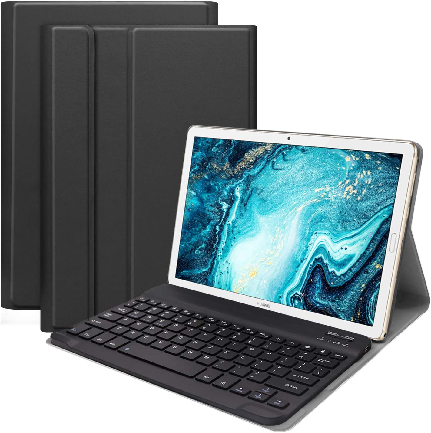 Navitech Black Micro USB Keyboard Case//Cover Compatible with TheHuawei MediaPad M5 10.8