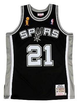 Mitchell & Ness Tim Duncan San Antonio Spurs auténtico 2002 – 03 negro NBA Jersey