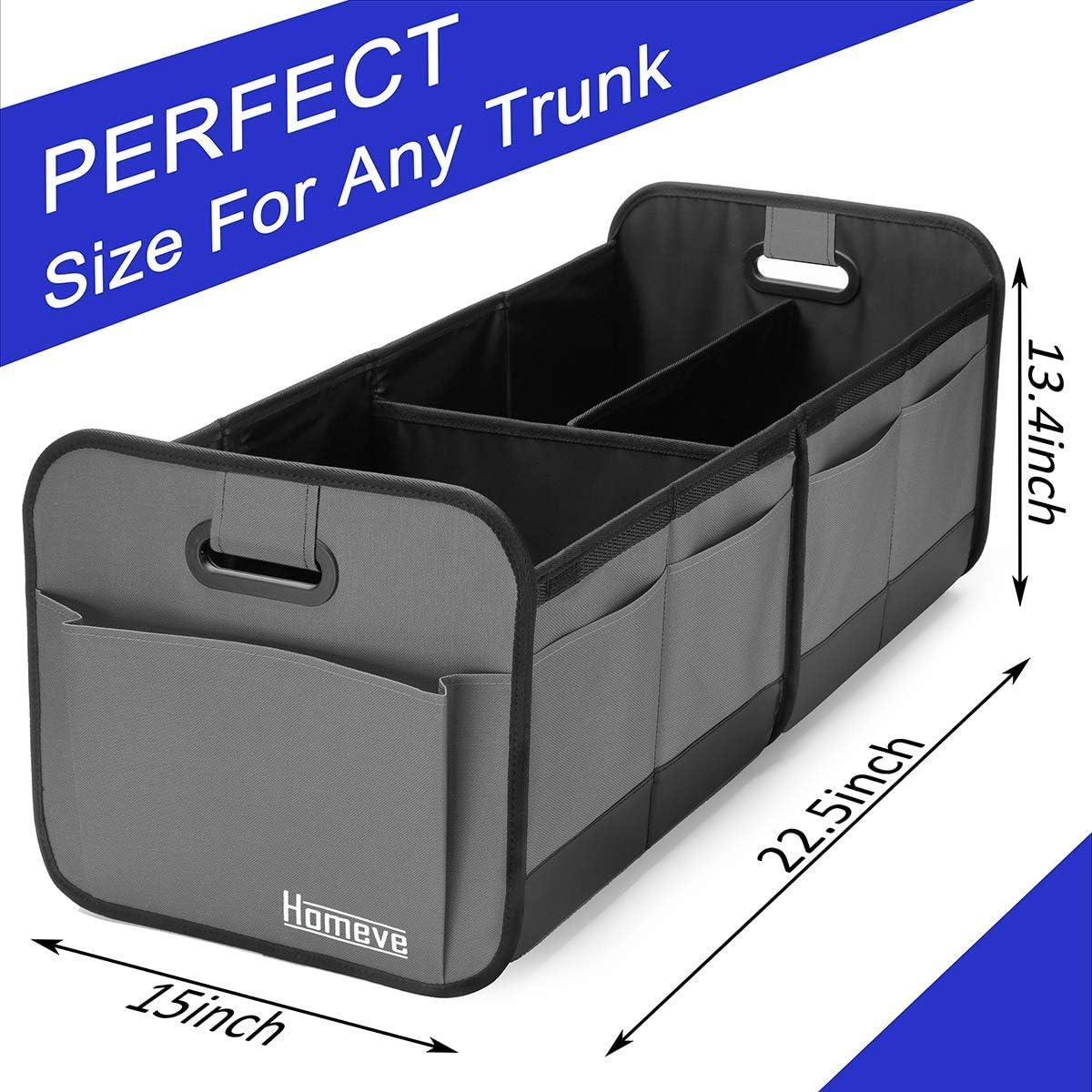 Minivan Reinforced Handles and Great For Car SUV Truck Car Trunk Organiser