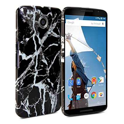 check out 2e246 744fa Google Nexus 6 / Nexus X (XT1100) Case, GMYLE Snap Cover GlossyMarble  Pattern for Google Nexus 6 / Nexus X (XT1100) - Black Marble Pattern Glossy  Slim ...