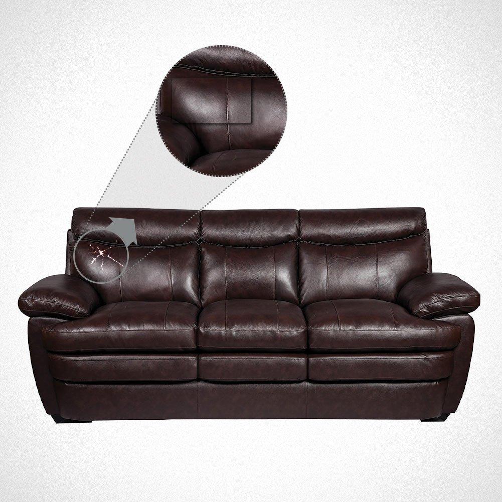 BENECREAT 10PCS Parche de Reparacion de Cuero - Autoadhesivo para sofás Asientos de Coche y Bolsos, 20x10cm, 10 Colores