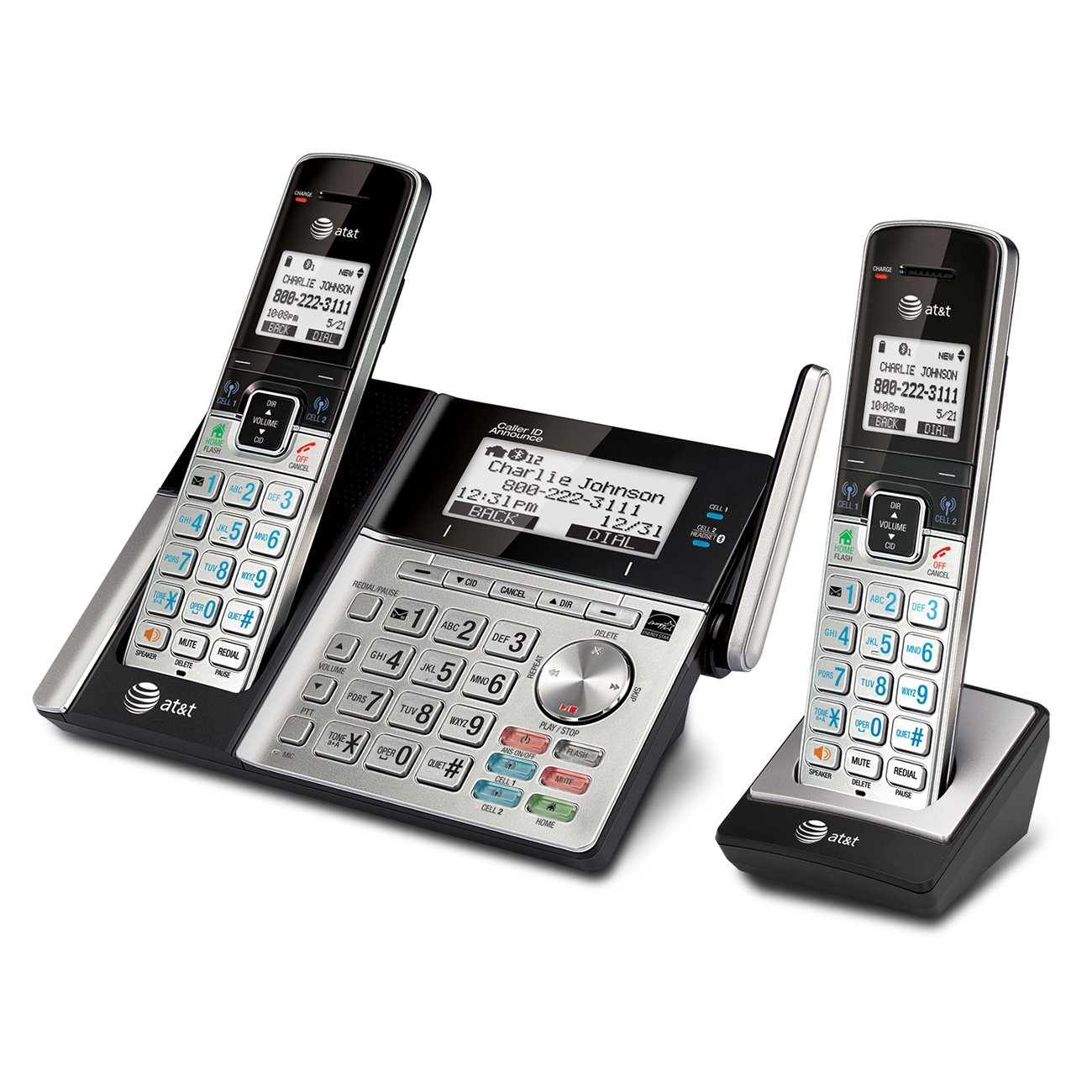amazon com at t tl96273 dect 6 0 expandable cordless phone with rh amazon com