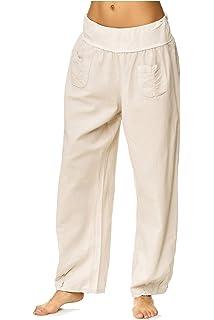 a991acf5dca881 JillyMode hochwertige Damen Leinenhose aus bequemem Leinen in viele Farben  Gr. 36- Gr.