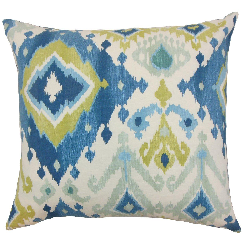 The Pillow Collection Gannet Ikat Bedding Sham Aegean King//20 x 36