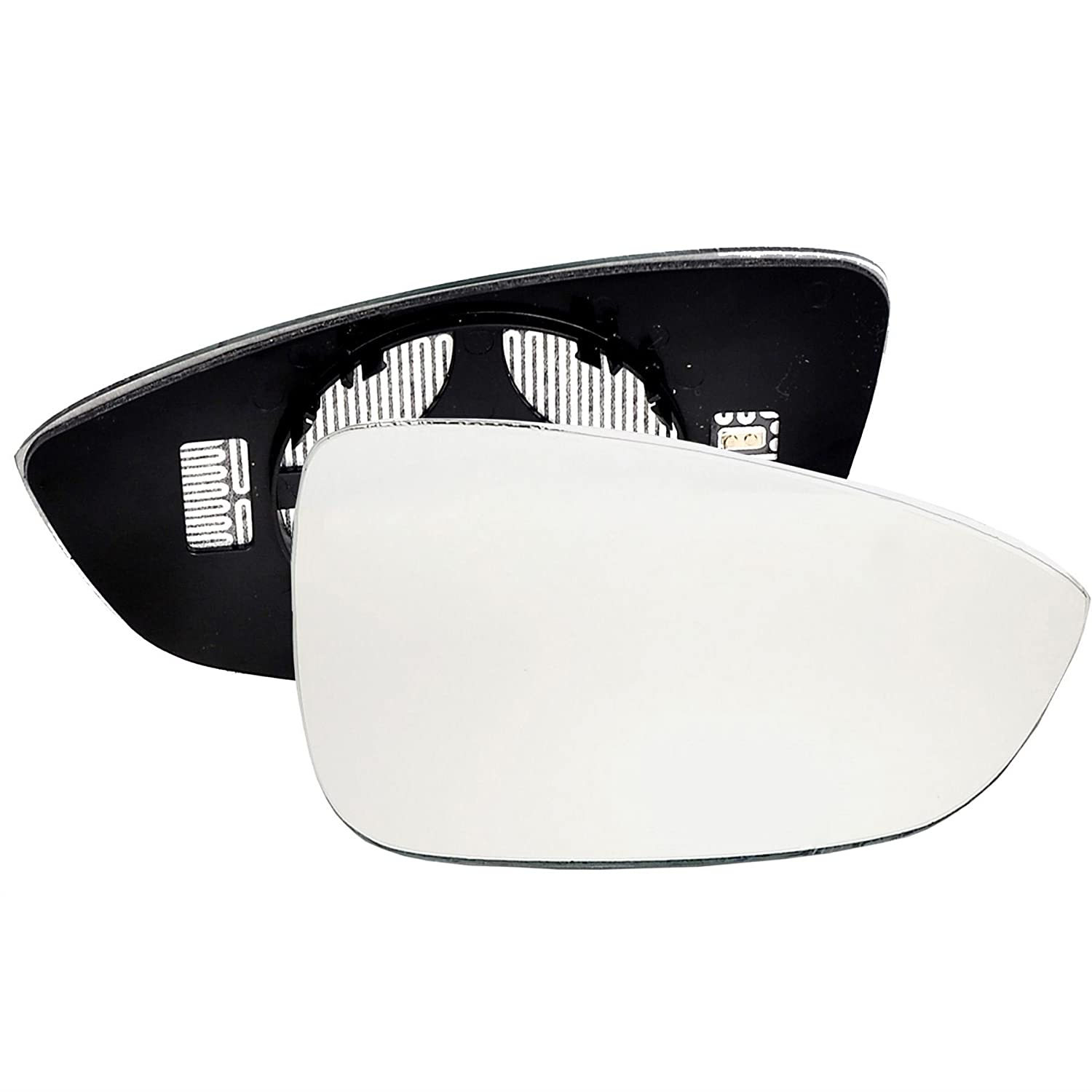 Driver right hand side Heated wing door Silver mirror glass with backing plate #C-SHY/R-VNPT10 [Clip On]