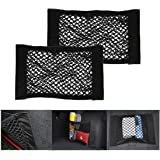 25cm Car Back Rear Trunk Seat Magic Sticker Elastic String Net Mesh Storage Bag Pocket Cage Organizer Yosoo 2 Pack 40