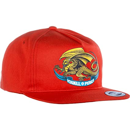 80c9b11a51c Image Unavailable. Image not available for. Color  Powell Peralta Oval  Drangon Red Snapback Hat ...
