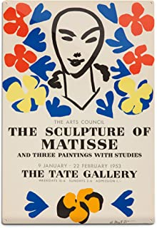 product image for The Sculpture of Matisse, Tate Gallery Vintage Poster (Artist: Matisse) France c. 1953 (12x18 Aluminum Wall Sign, Wall Decor Ready to Hang)