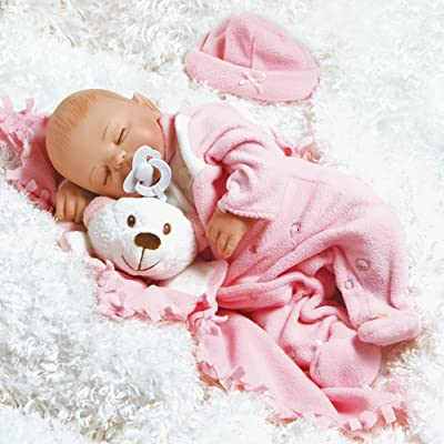 Paradise Galleries Reborn Baby Doll Like Baby Doll That Looks Real, Baby Carly, Sleeping Girl Doll Crafted in Soft Vinyl and Weighted Body, 16 inch