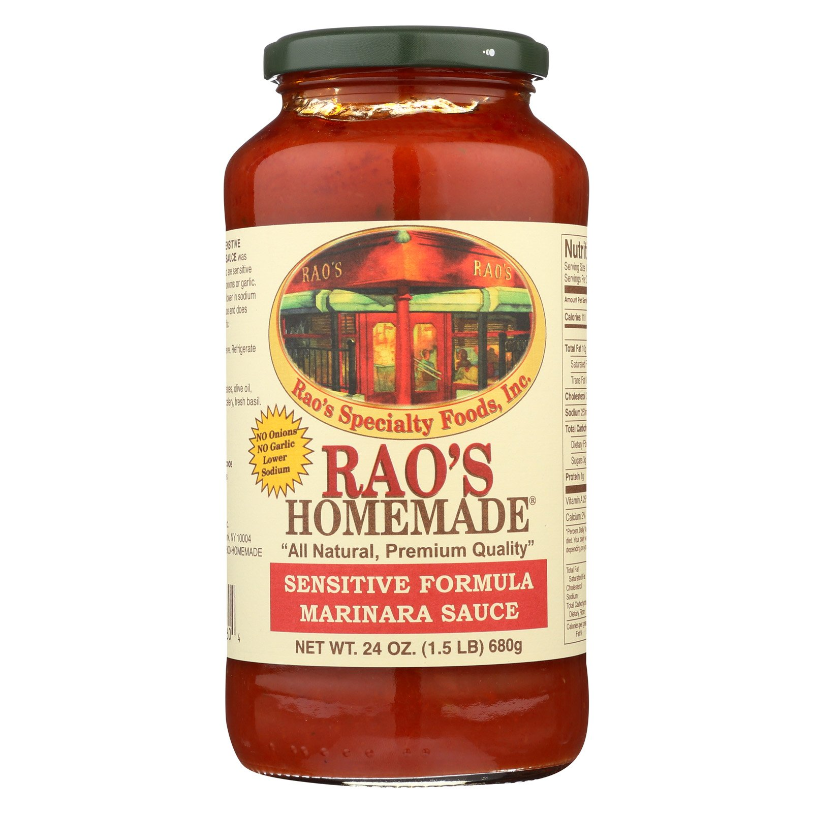 Rao's Specialty Food Homemade Sauce - Sensitive Formula Marinara - Case of 12 - 24 oz. by Raos Specialty Food