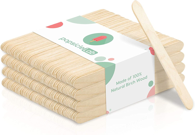 Set of 100 Popsicle Sticks Wooden Ice Cream Sticks Baking Supplies /& Tools Dessert Supplies Fast Shipping CAKESICLE STICKS Shapem