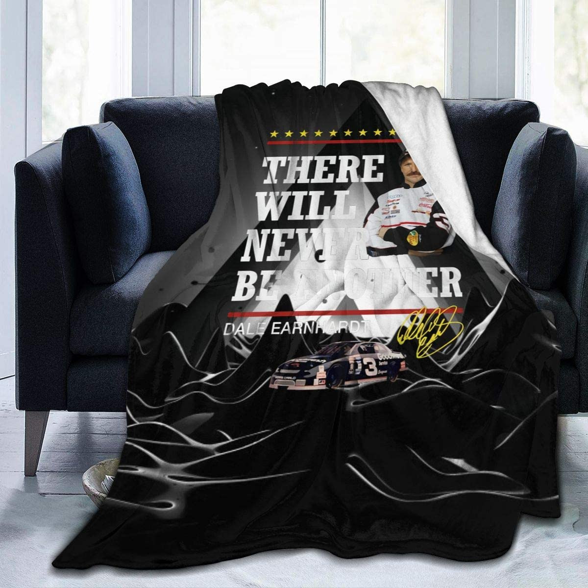 """SusanRobey There Will Never Be Another Dale Earnhardt Soft and Warm Anti-Pilling Micro Fleece Blanket Printed Cozy Blanket 60""""x50"""""""