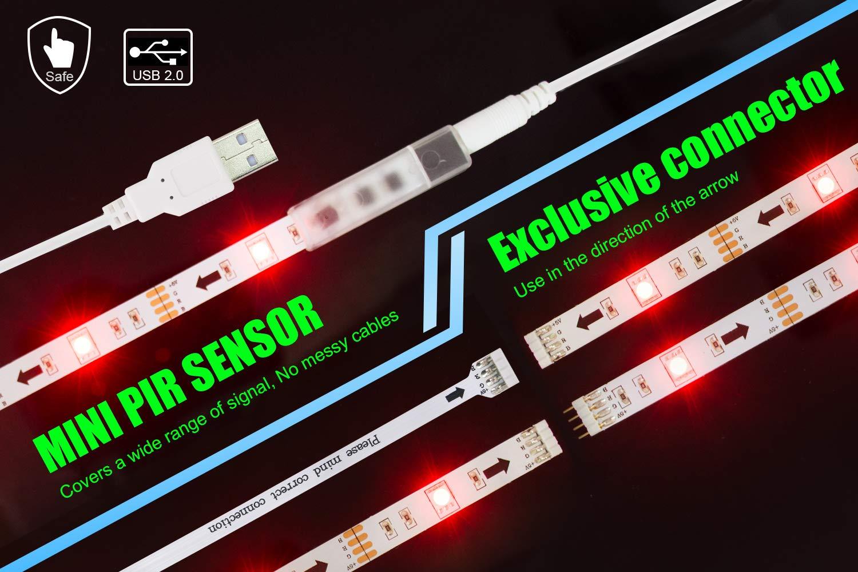 LED TV Backlight,ViLSOM Powered USB LED Strip Lights 6.56Ft for 40 to 60 Inch HDTV - Bias Lighting with 24keys Romote Control RGB Lighting by ViLSOM (Image #5)