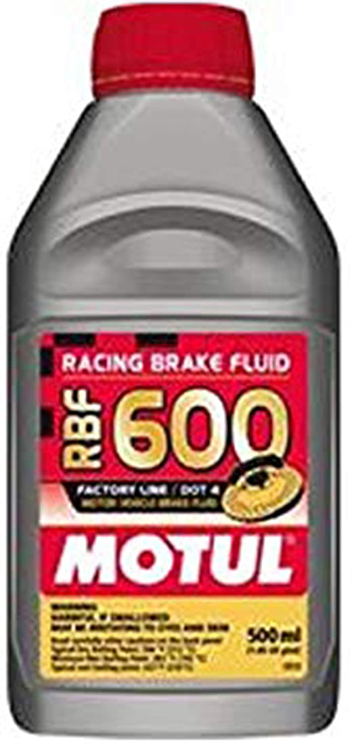 Motul std color MTL100949 8068HL RBF 600 Factory Line Dot-4 100 Percent Synthetic Racing Brake Fluid-500, 300. ml