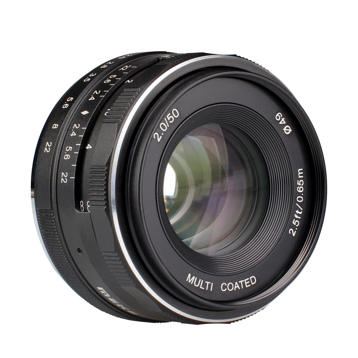 Meike 50mm f/2.0 Manual Focus Fixed Lens for Fujifilm-FX Mount Digital Cameras (X-A1/A2,X-e1/e2/e2s,X-M1,X-T1/T10,X-pro1/pro2 etc) by Meike