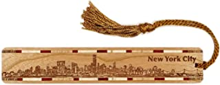 product image for Personalized New York City Skyline - Engraved Wooden Bookmark with Tassel