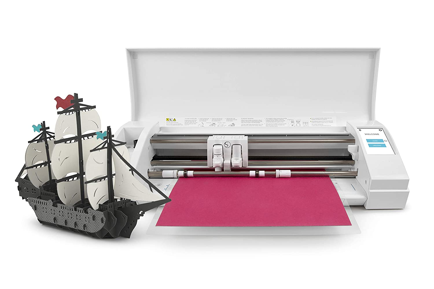 Silhouette Cameo 3 with Bluetooth Auto Adjusting Cutting Blades 110v-220v Power Cord Vinyl Trimmer 12x12 Mat