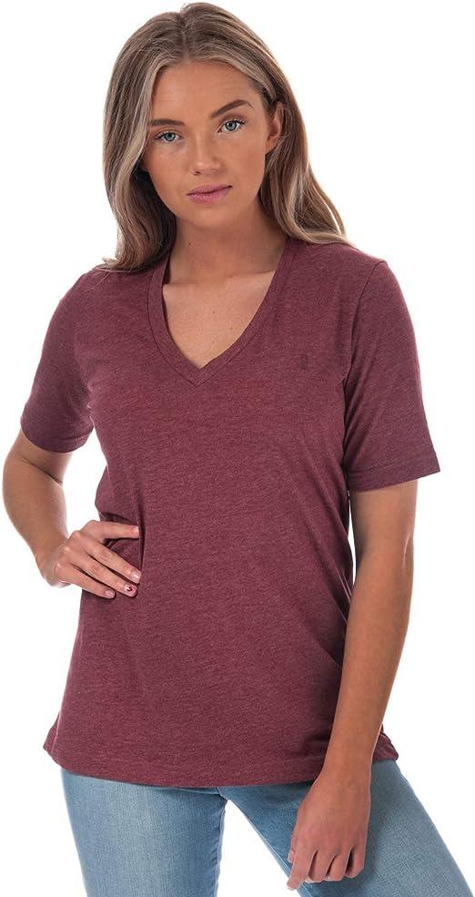 Henri Lloyd Womens Jayne Short Sleeve Marl V-Neck T-Shirt in Grey Marl
