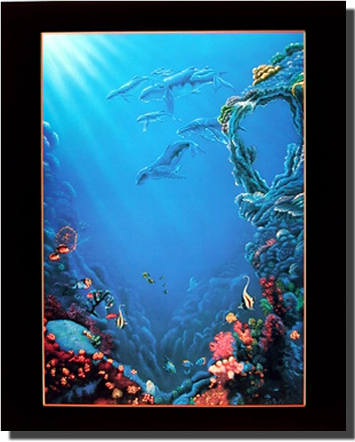 Ocean Tropical Fish and Coral reef Underwater Sea Wall Decor Art Print Poster (16x20)