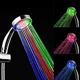 Alcachofa Ducha LED,Cabeza de Ducha Alta Presiòn Cambiando LED (3 color)