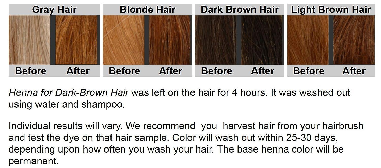 Amazon Com Organic Henna Hair Dye For Dark Brown Hair 2 Bags
