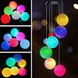 AceList Color Changing Solar Power Wind Chime