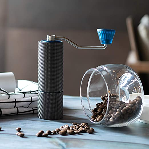 with double be Turkish Brew Espresso TIMEMORE Chestnut C2 Manual Coffee Grinder with Adjustable Setting Conical Burr Mill Calibrated grinding Double bearing center shaft precision concentric French Press Burr Coffee Grinder for Aeropress Drip Coffee