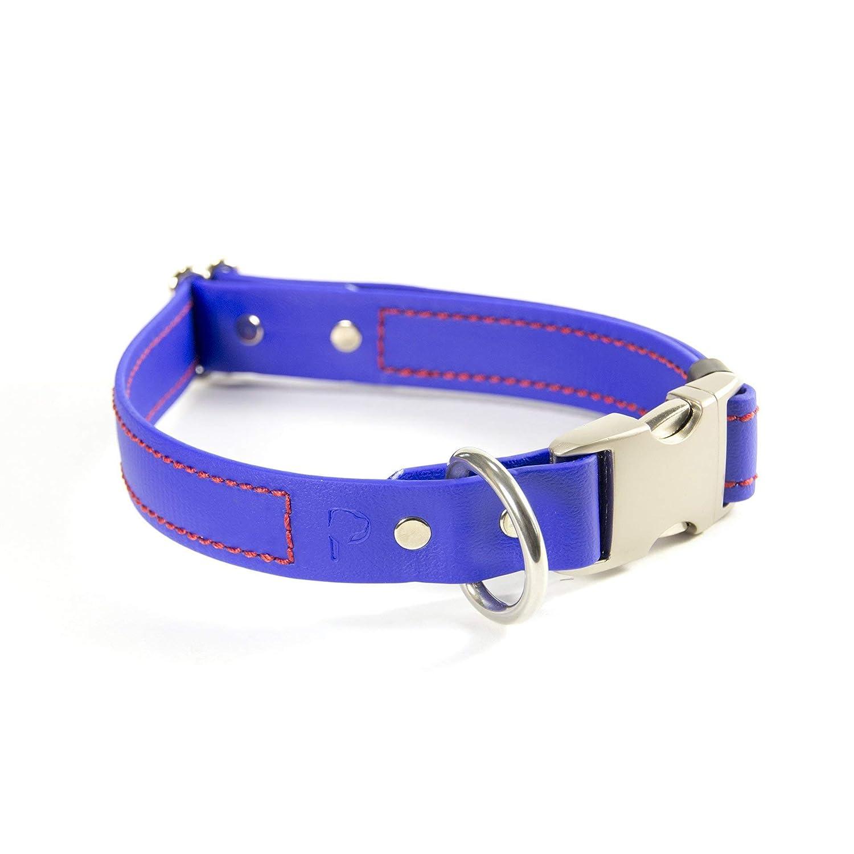 bluee M bluee M PACKT Quick Release Waterproof Stinkproof Dog Collar, bluee-M