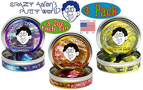 Crazy Aaron S Thinking Putty Super Illusions Scarab Lava Oil Slick Gift