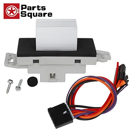 PartsSquare Heater Blower Motor Resistor Complete Kit With Harness 1581773 89018778 Replacement For Chevy Silverado Tahoe Suburban GMC Sierra