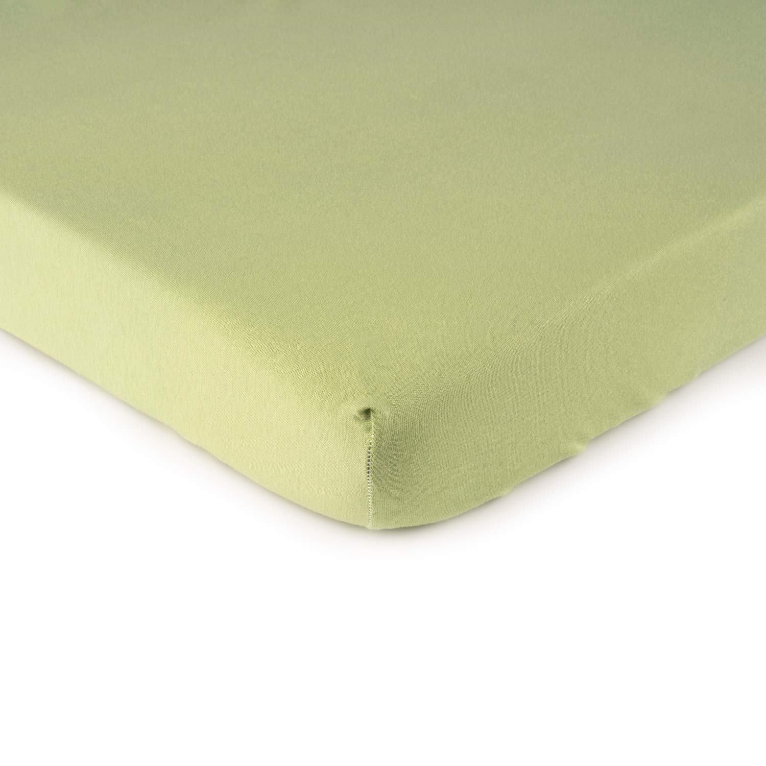 SheetWorld Fitted Cradle Sheet - Solid Sage Jersey Knit - Made In USA by SHEETWORLD.COM
