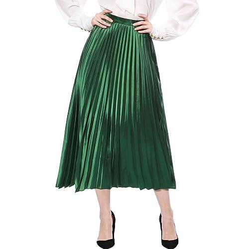 Metallic Pleated Skirt Amazon Co Uk