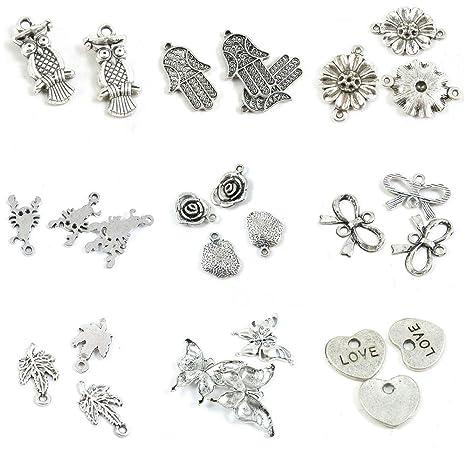 28 piezas de abalorios para hacer joyas, diseño de corazón con ...