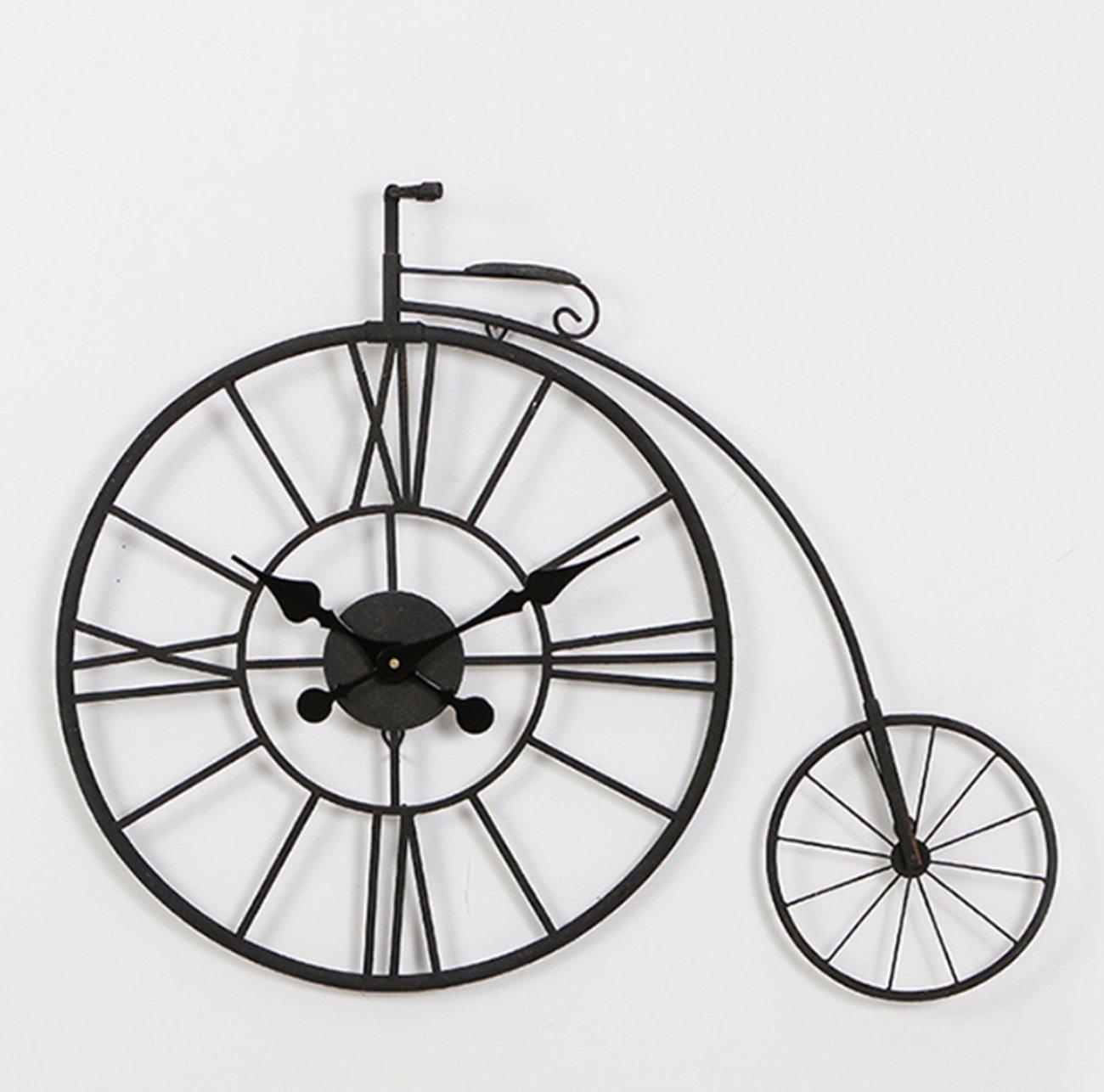 クリエイティブ中空バイクのタイプの壁時計ヨーロッパのノスタルジックな鉄の掛け時計の時計レトロな静かな壁の装飾時計バーカフェのリビングルーム(78 * 9.5 * 62センチメートル) B07CKGZZH9