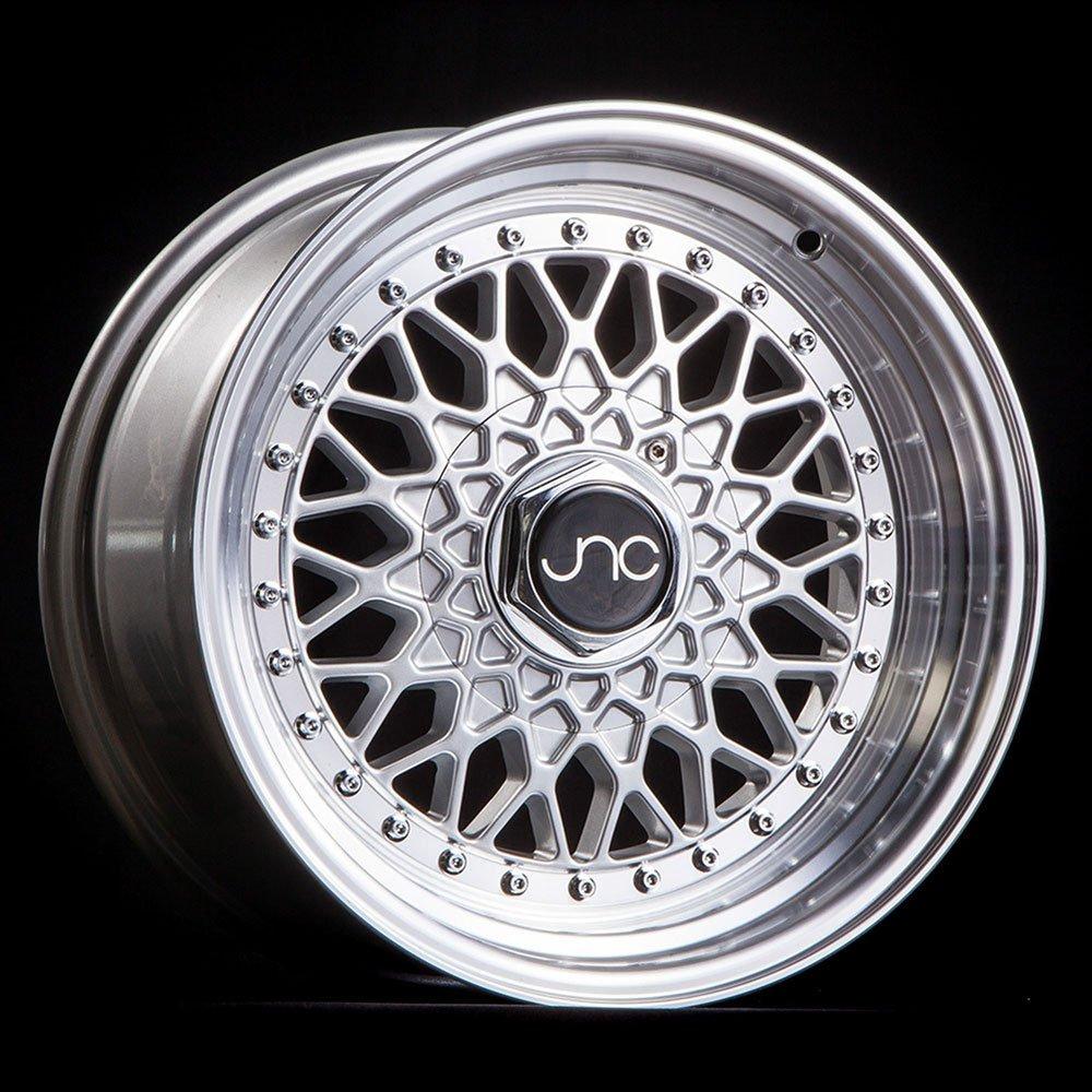 JNC Wheels - 16' JNC004 Silver Machined Lip Rim - 4x100/4x114.3 - 16x8 inch