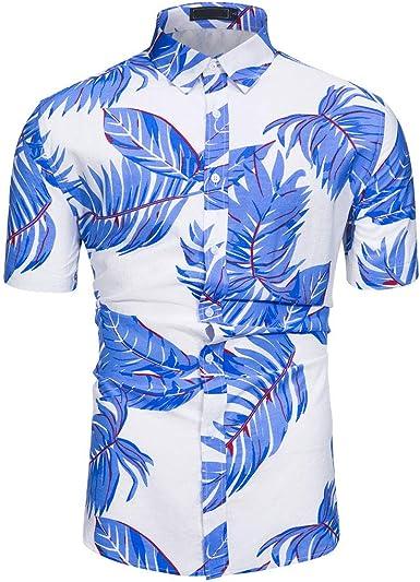 Overdose Camisas Hombre Estampadas Manga Corta de Playa Camisetas para Hombres Informal Retro Originales T Shirt Hombre: Amazon.es: Ropa y accesorios