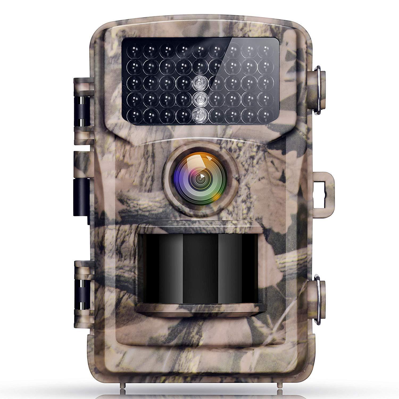 Campark Wild Appareil photo 12MP 1080P FHD Caméra de chasse 2.4couleur LCD Angle 120° Vision Low Glow infr Lanzarote 22m/75ft, 42pcs IR LED étanche IP56 IP56 Étanche Caméra de Jeu HT40