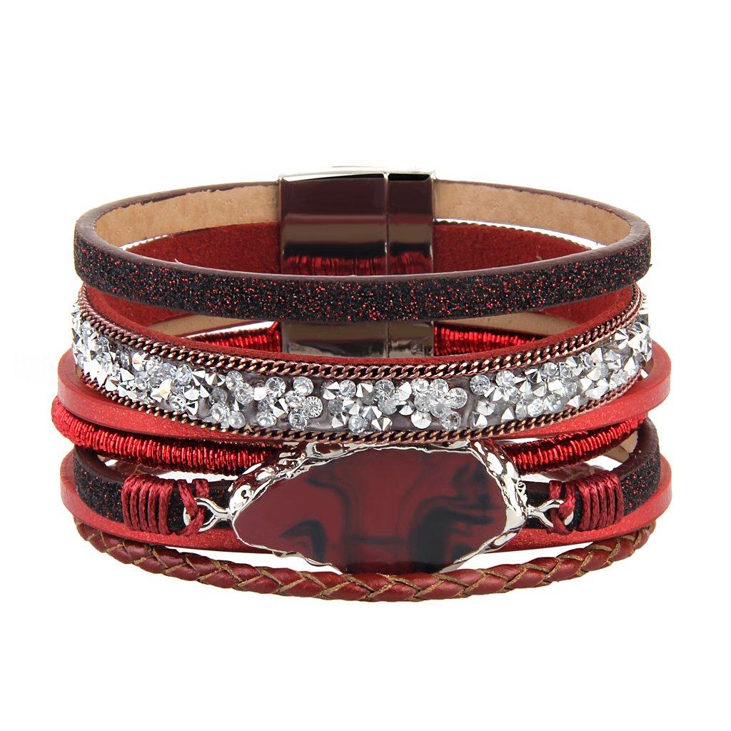 JAOYU Leather Cuff Bracelet...
