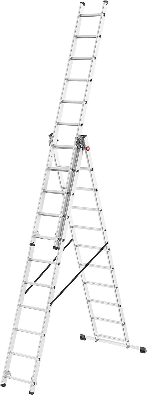 Leiter mit 3x11 Sprossen