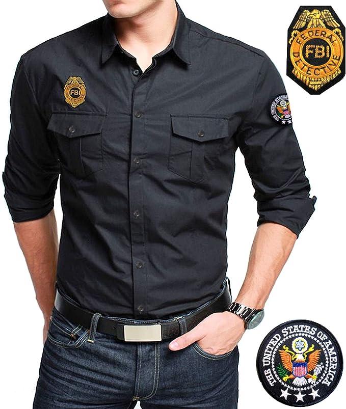 GEN.CON. Camisa Negra FBI, Negro, XL: Amazon.es: Deportes y aire libre